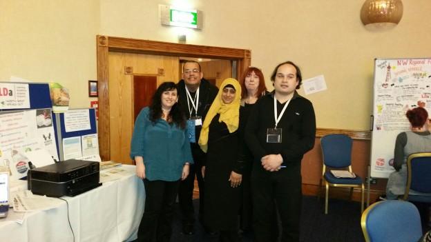 Left to right Alison Matthews, John Hendrickson ( chair of NW LDA) , Shahnaz Ashraf, Rosemary Trustam, Darren Heywood (vice chair)