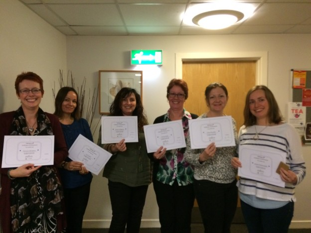 accredited trainer may 16 Donna , Alison ,Liz , Tracey , Clare and Emma